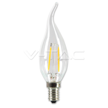 LED spuldze (svece) - LED Bulb - 2W Filament E14 Candle Tail Warm White